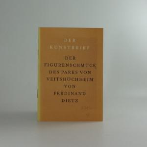 náhled knihy - Ferdinand Dietz, der Figurenschmuck des Parks von Veitshöchheim
