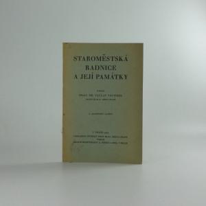 náhled knihy - Staroměstská radnice v praze a její památky