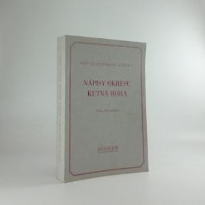 náhled knihy - Nápisy okresu Kutná Hora : corpus inscriptionum Bohemiae II