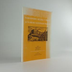 náhled knihy - Sborník Národního muzea v Praze