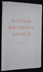 náhled knihy - Začátek Racineovy Athalie