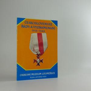 náhled knihy - Československé řády a vyznamenání 1918 - 1948