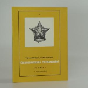 náhled knihy - Československá vyznamenání VI část c