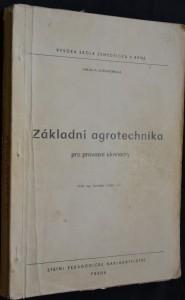 náhled knihy - Základní agrotechnika pro provozní ekonomy