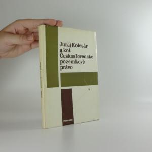 náhled knihy - Československé pozemkové právo