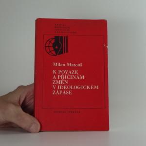 náhled knihy - K povaze a příčinám změn v ideologickém zápase