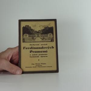 náhled knihy - Zachycení nových Ferdinandových Pramenů a jejich prameno-technická úprava