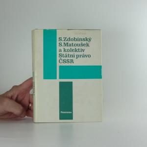 náhled knihy - Státní právo ČSSR : celostátní vysokoškolská učebnice pro studenty právnických fakult