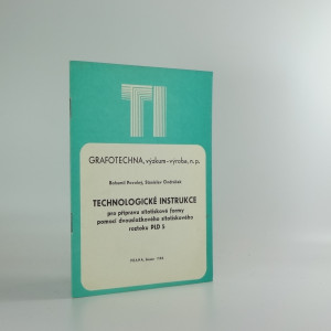 náhled knihy - Technologické instrukce pro přípravu sítotiskové formy pomocí dvousložkového sítotiskového roztoku PLD 5