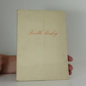 náhled knihy - Světlo  lásky-  hrst  vánoční  lyriky