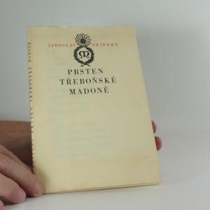 náhled knihy - Prsten třeboňské madoně (obálka, frontispis a úprava C. Bouda)