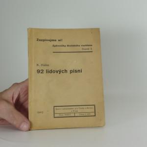 náhled knihy - 92 lidových písní