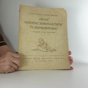náhled knihy - První Národní shromáždění československé : kresby z let 1919-1920