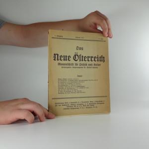 náhled knihy - Das neue Österreich Monatschrift für Politik und Kultur, I. ročník XI. číslo