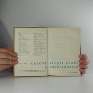 antikvární kniha Časová studie prací v kovoprůmyslu, Díl I : strojní práce, 1942
