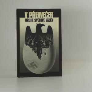 náhled knihy - V předvečer druhé světové války