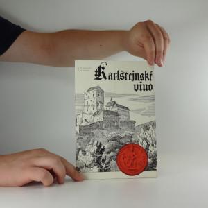 náhled knihy - Karlštejnské víno