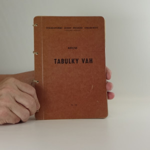 náhled knihy - Tabulky vah
