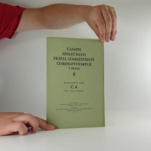 náhled knihy - Časopis společnosti přátel starožitností Československých v Praze
