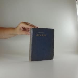 náhled knihy - Memoiry. I. díl