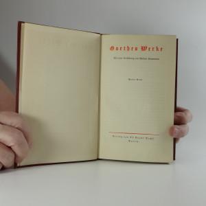 antikvární kniha Goethes Werke (2 svazky), neuveden