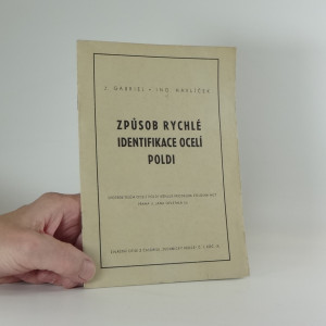náhled knihy - Způsob rychlé identifikace ocelí Poldi