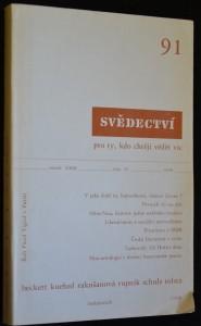 náhled knihy - Svědectví, revue pro politiku a kulturu, roč. XXIII, číslo 91, 1990