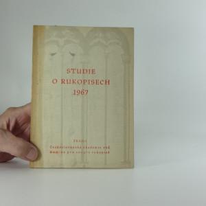 náhled knihy - Studie o rukopisech 1967