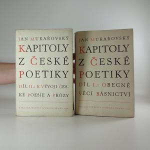 náhled knihy - Kapitoly z české poetiky, díl I, II