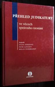 náhled knihy - Přehled judikatury ve věcech správního trestání