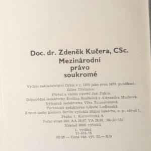 antikvární kniha Mezinárodní právo soukromé : Vysokošk. učebnice, 1975