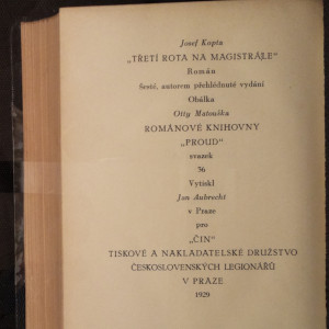 antikvární kniha Třetí rota na magistrále, 1929