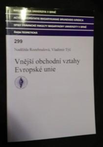 náhled knihy - Vnější obchodní vztahy Evropské unie