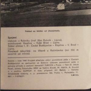 antikvární kniha Vyšší Brod, 1960