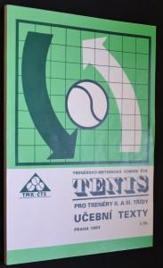 náhled knihy -  Tenis: pro trenéry II. a III. třídy; učební texty 2. díl