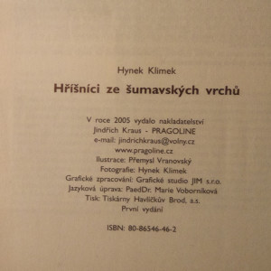 antikvární kniha Hříšníci ze šumavských vrchů, 2005
