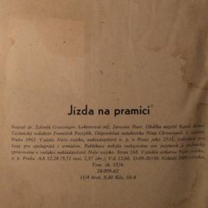 antikvární kniha Jízda na pramici, 1962