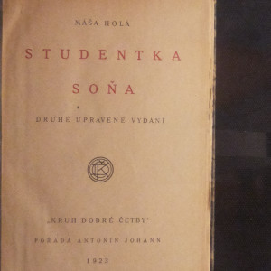 antikvární kniha Studentka Soňa, 1923
