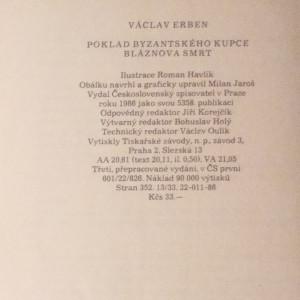 antikvární kniha Poklad byzantského kupce. Bláznova smrt., 1986