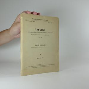 náhled knihy - Tabulky pro posuzování a navrhování průřezů ze železového betonu podle československé normy