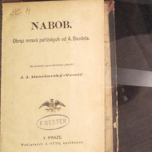 antikvární kniha Nabob. Obraz mravů pařížských., neuveden