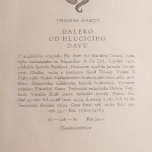 antikvární kniha Daleko od hlučícího davu, 1981