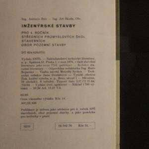 antikvární kniha Inženýrské stavby pro 4. ročník středních průmyslových škol stavebních : Obor pozemní stavby, 1976