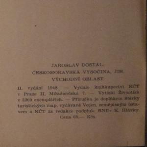 antikvární kniha Českomoravská Vysočina - jih : díl II., 1948