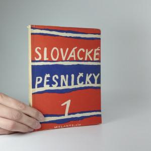 náhled knihy - Slovácké pěsničky 1