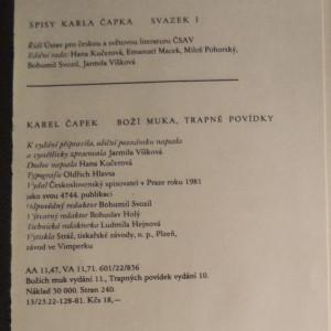 antikvární kniha Spisy: Boží muka ; Trapné povídky, 1981