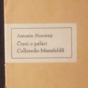 antikvární kniha Čtení o pálaci Colloredo-Mansfeldů, 1945