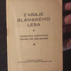 antikvární kniha Z kraje Blánského lesa : turistická vzpomínka, 1927