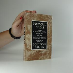 náhled knihy - Pamětní nápis Bernardu Ignácovi z Martinic : výběr textů