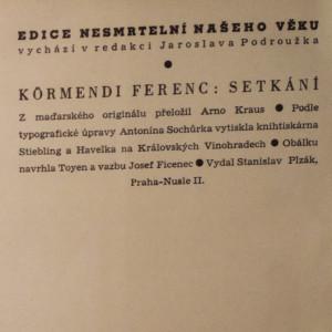 antikvární kniha Setkání, 1940